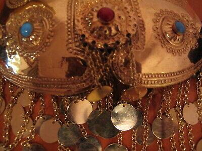 Rare Tribal Belt Buckle Bulgarian Balkan Pafti With Bonwit Teller Leather 7