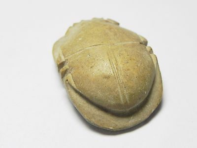 Zurqieh -Af958-  Ancient Egypt - Stone Button Scarab , 664 - 332  B.c 4