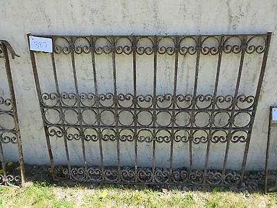 Antique Victorian Iron Gate Window Garden Fence Architectural Salvage Door #387 3