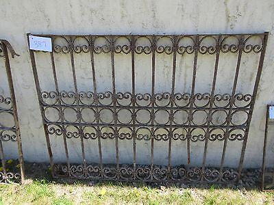 Antique Victorian Iron Gate Window Garden Fence Architectural Salvage Door #387 3