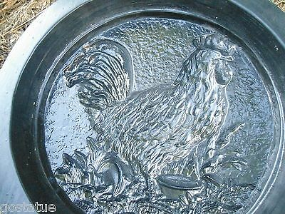 Rooster stepping stone mold plaster concrete casting mould