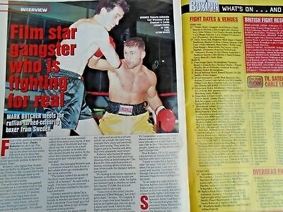 BOXING NEWS - 27 feb 1998 - eubank, mcdonnell, holyfield, lewis free p&p to uk 12