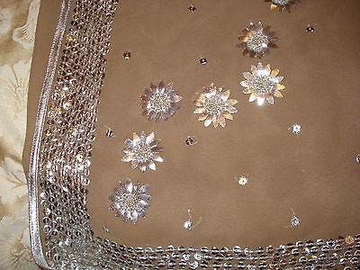 Ladies / Girls Wash & Wear Saree With Gota Patti Silver Work Throughout 3