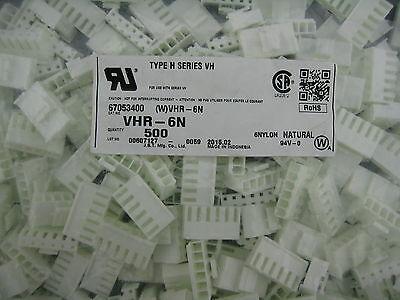5 sets --JST VHR-6N HOUSING 6WAY 3.96mm & crimp contact SVH-41T-P1.1 ghentaudio 2