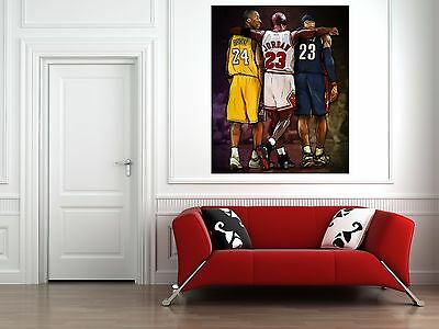 NBA WALL ART Michael Jordan, Kobe Bryant, Lebron James Canvas Print ...