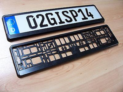 1 of 5 European Euro License Number Plate Holder Frame Car UK EU Porsche BMW German NEW & EUROPEAN EURO LICENSE Number Plate Holder Frame Car UK EU Porsche ...