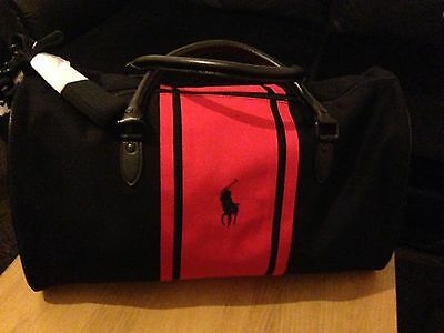 6 of 11 Ralph Lauren Parfums Polo Black   Red Holdall   Weekend   Travel Bag  Brand New 12f4c48bad
