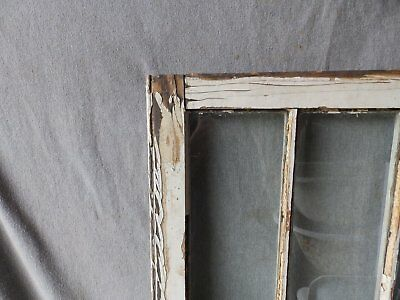 Antique French Door Window Cabinet Bookcase Casement Vtg Shabby 61x22 186-17P 8