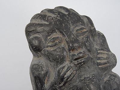"Antique Pre-Columbian Guatemala Seated Shaman Figure ~ 3.75"" 4"