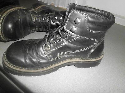 VINTAGE HERREN SCHUHE Boots Century Gr. 41 alt 90er Jahre