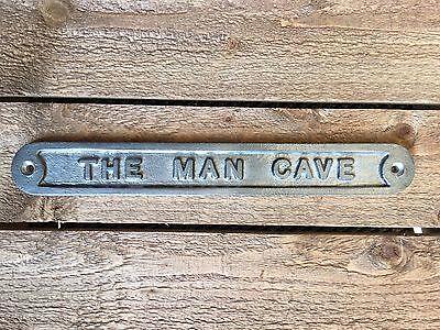 'the Man Cave' Door Sign Shed Garage Vintage Solid Cast Metal Dad Gift - 99319 3