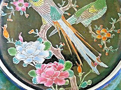 Antique Arita Imari Dish Bowl Signed Japan Enamel Porcelain Rare Flowers Birds 3