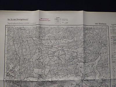Landkarte Meßtischblatt 3361 Birnbaum, Neu-Zattum, Reichsgau Wartheland, 1940