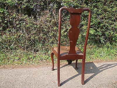 single upholstered wooden  chair 4