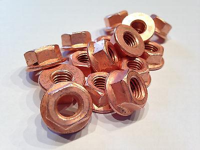 65 Auspuff Hitze Muttern Kupfer M8 DIN 14441 Thermag
