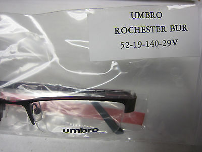 2ee3bc6bc395 ... Umbro Eyeglasses Frame Rochester Bur 52-19-140 Demo With Case Authentic  4