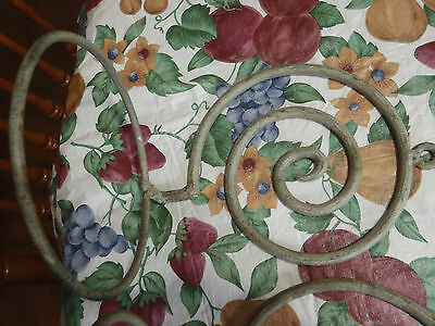 """vintage plant wall hanger 6"""" pot lot of 2 steel with very nice patina/design 3"""