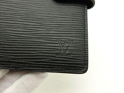 Louis Vuitton Authentic Epi Leather Black Agenda fonctionnel PM Diary cover Auth 3