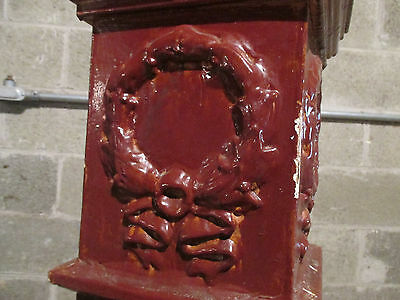 ~ Antique Carved Oak Newel Post ~ 49 Inches Tall ~  Architectural Salvage ~