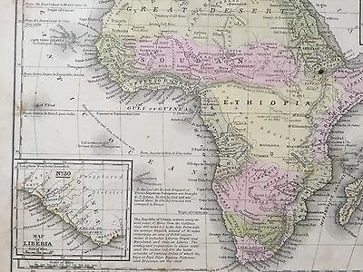 "Hand-Colored Map of Africa (1855)-""Mitchell's School Atlas"" 4"