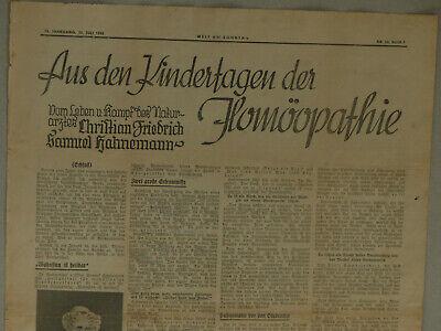 Samuel Hahnemann Homöopathie 28.07.1935 Welt am Sonntag Cafe Luitpold München 3