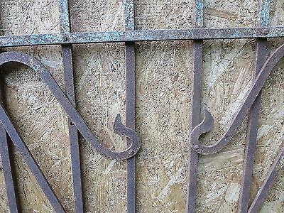 Antique Victorian Iron Gate Window Garden Fence Architectural Salvage Door FFF 7
