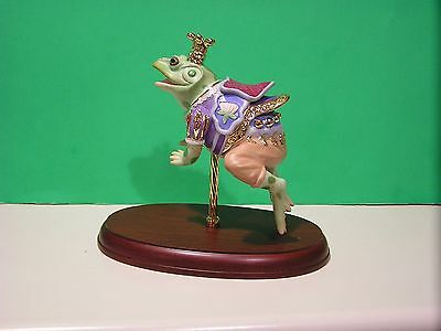LENOX CAROUSEL PRINCE FROG sculpture NEW in BOX with COA Horse