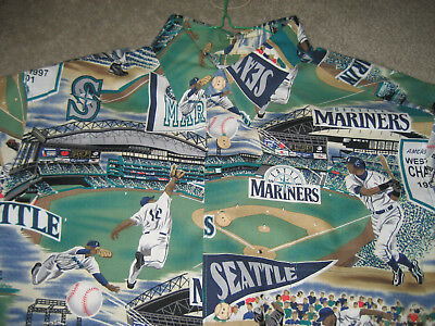 b5fac26a ... Seattle Mariners Hawaiian Shirt Classic Mariner's Tradition Reyn  Spooner Medium 2