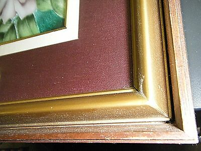 """Beautiful Framed Vintage Enamel / Guilloche On Silver Floral Plaque 16"""" X 11"""" 6"""