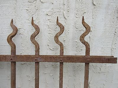 Antique Victorian Iron Gate Window Garden Fence Architectural Salvage Door #709 7