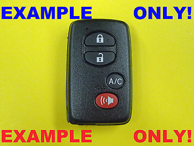 LOT 10 UNLOCK Toyota Lexus Smart Prox Remote Reset Service & UNCUT  Emergency KEY