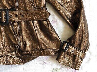 BURBERRY Children Mädchen Jacke Leder Gr.122 6-7 years girls leather jacket belt 6