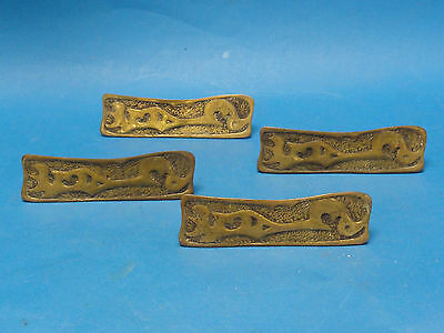 4x ANTIQUE EASTLAKE INSPIRED BRASS DOOR HANDLE 2