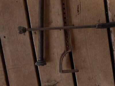 Vintage Antique Hand Pump Rare Cast Tool Farm Salvaged Barn Fresh non working 7
