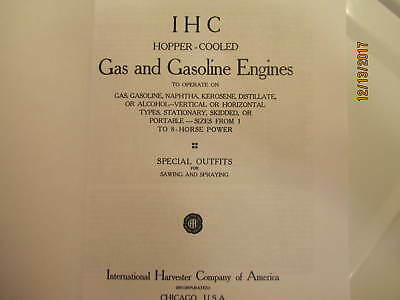 IHC International Harvester Gas Engine Catalog All sizes, hit miss, mags, pumps 2