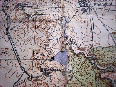1937 Giurgiu Romania Institutul Geografic Militar Original Vintage Map 5