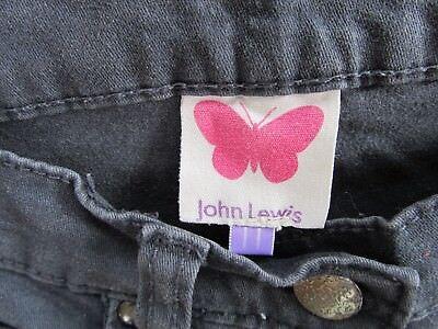 Girls JOHN LEWIS Stretch Skinny Canvas Jeans Dark Grey/Blue age 11yrs 4