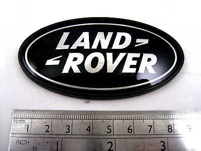 Land Rover Discovery black+Silver Oval rear badge upgrade 1 2 3 LR3 logo genuine 2