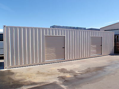 Shipping Container Portable Storage building with four roll up doors 2