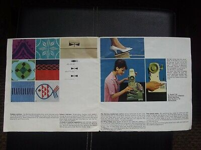 Bernina Record sewing machine Sales brochure 1960's 5