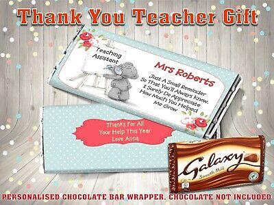 Teacher End of Term One in a Minion Chocolate Bar Wrapper Fits Galaxy etc.