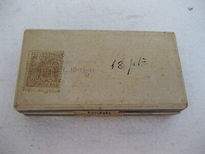 antiguo utensilio para los callos en su caja original y con sello franquista 2