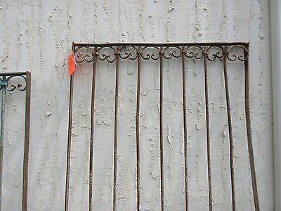 Antique Victorian Iron Gate Window Garden Fence Architectural Salvage Door #318 2
