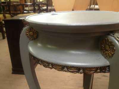 pair french victorian grey painted ormolu torcheres plant candle stand jardinier 6