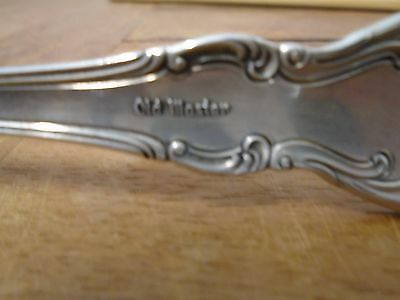 Old Master Towle Sterling Silver Medium Solid Cold Meat Fork No Initial 1942 6