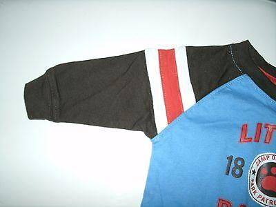 Oshkosh Boy's T-Shirt Long Sleeve Blue Brown Orange Size 3 Months New 3