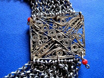 OTTOMAN SILVER Adornment KYUSTEK or PENDANT & STONE , Hand crafted chains 7
