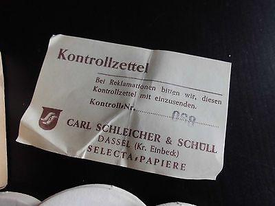 Antike Rundfilter Selceta S&S 5 cm Typ 587 E Carl Schleicher + Schüll Rarität 3