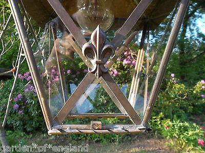 A very pretty unusual Vintage French brass lantern (T157) 4