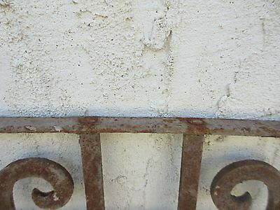 Antique Victorian Iron Gate Window Garden Fence Architectural Salvage #845 6